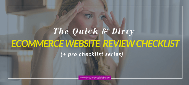 ecommerce website review checklist