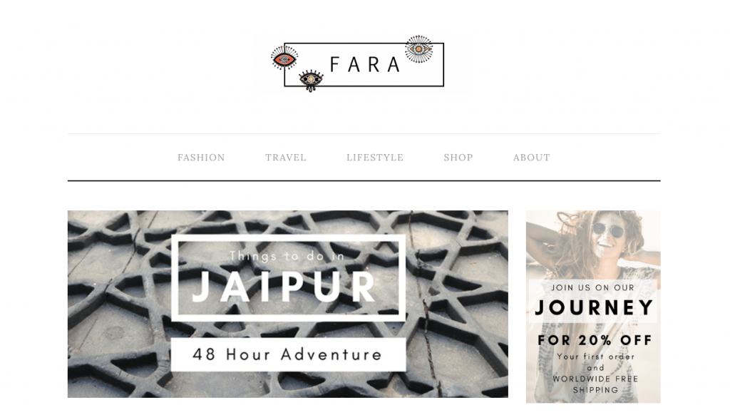 Check out my client Fara Boutique, they have a killer blog