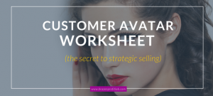 Customer Avatar worksheet pdf