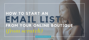 how to start an email list from scratch