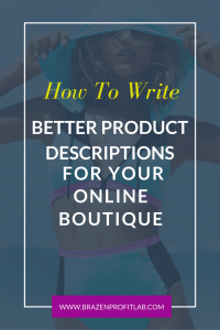 Better product descriptions online boutique