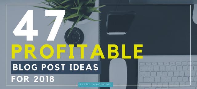 47 blog post ideas