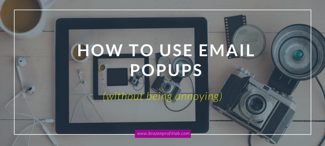 email pop ups
